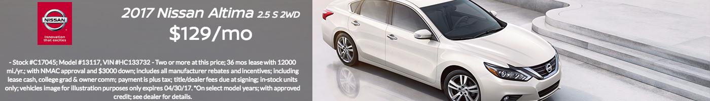 2017 Nissan Altima Indianapolis Lease Special