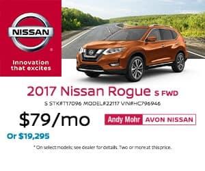 2017 Avon Nissan Rogue Lease Offer