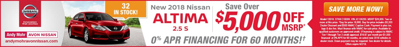 2017 Nissan Altima Indianapolis Lease Special