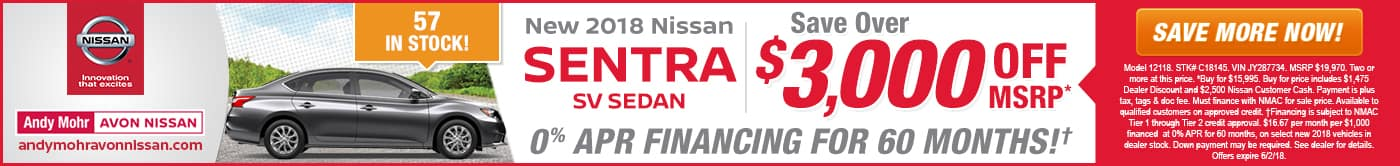 Avon Nissan Sentra Lease Special