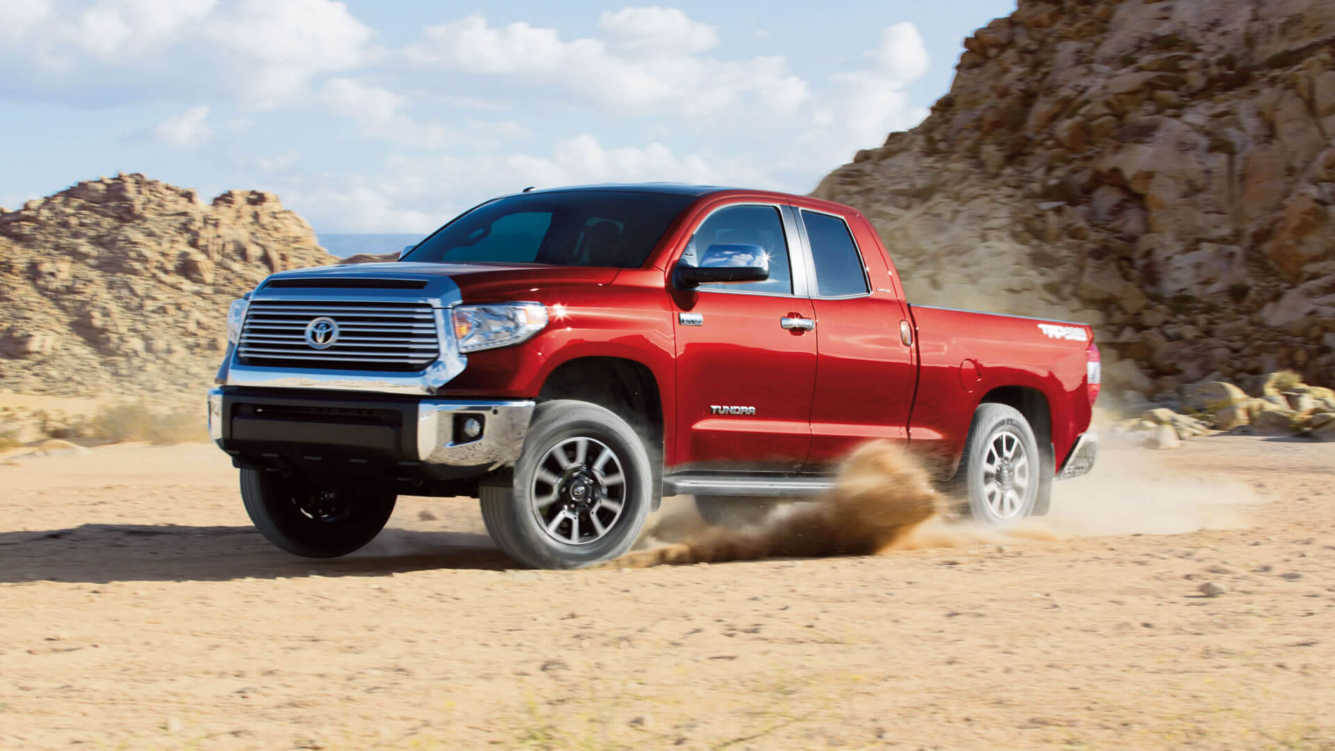 2016 Toyota Tundra in the dirt