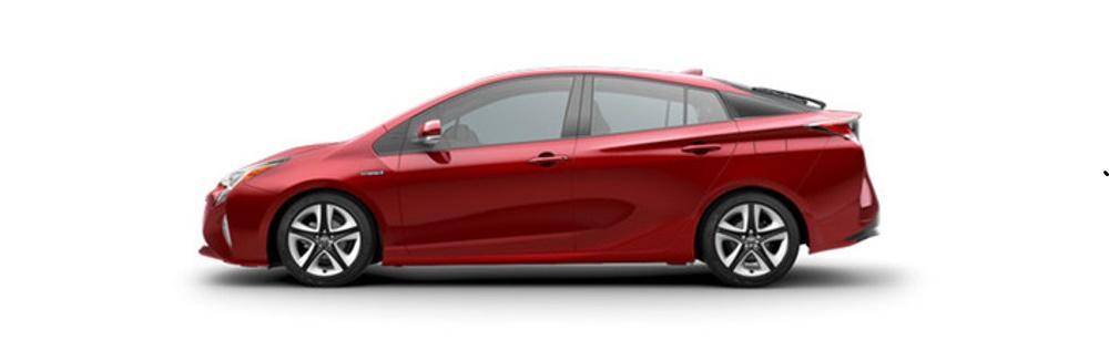 2017 Toyota Prius Red Profile1