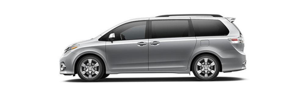 2017 Toyota Sienna Gray Profile1