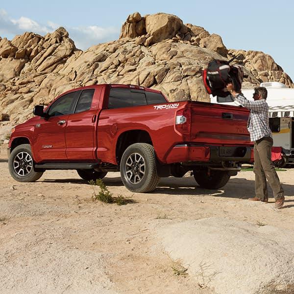 Red Toyota tundra