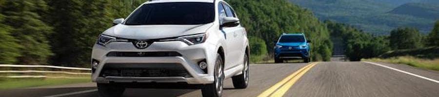 White Toyota RAV4