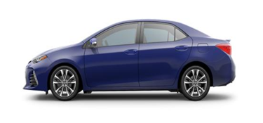 2019 Toyota Corolla blue crush metallic