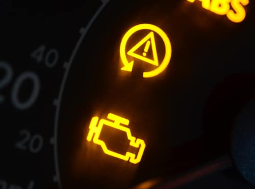 yellow warning lights