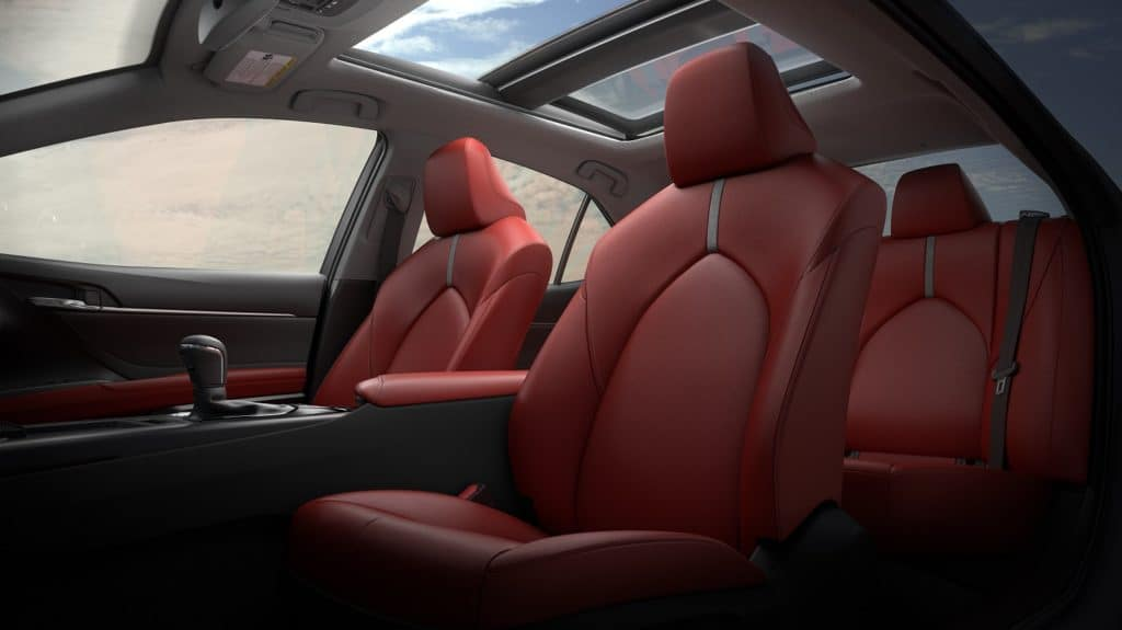 2019 Toyota Camry Interior Red Leather