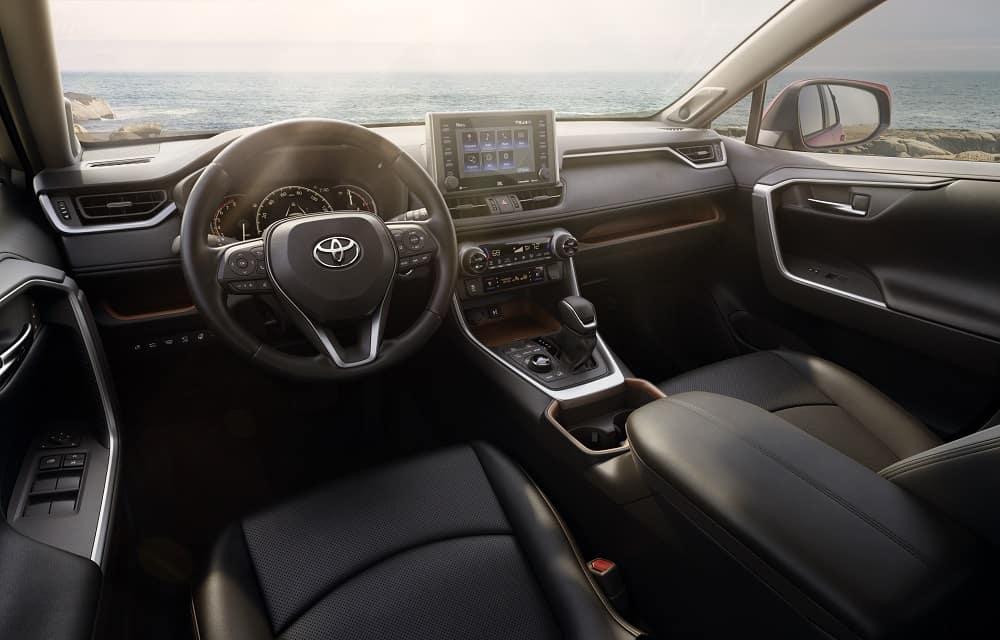 019 Toyota RAV4 Interior Black Leather