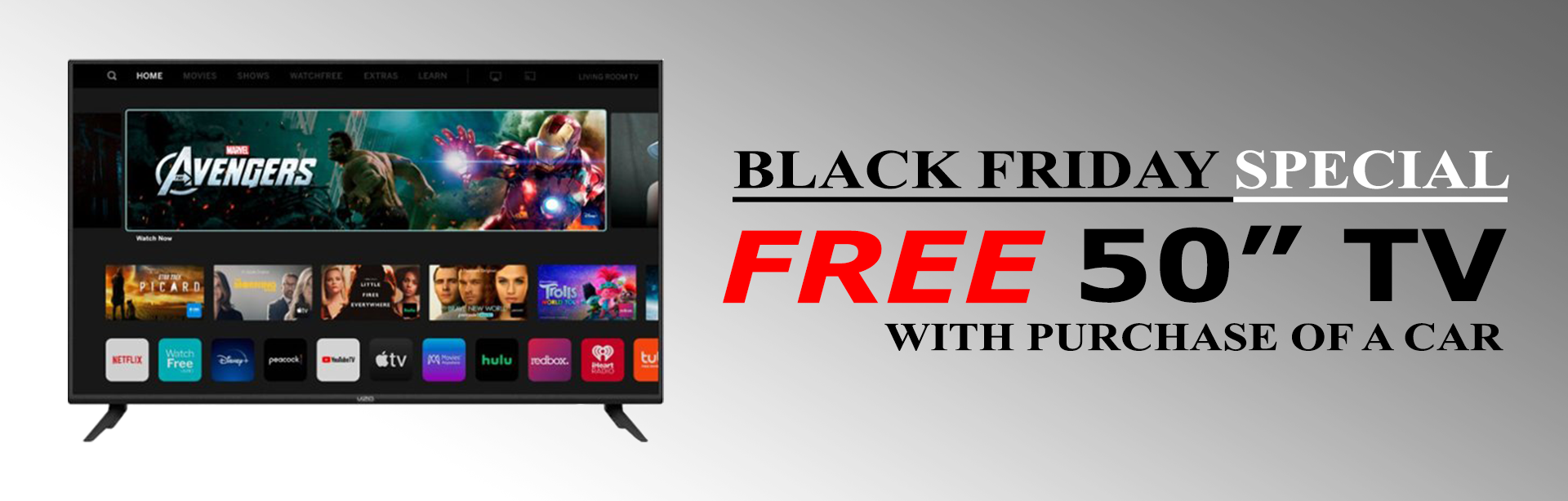 black friday free tv offer auto expo houston
