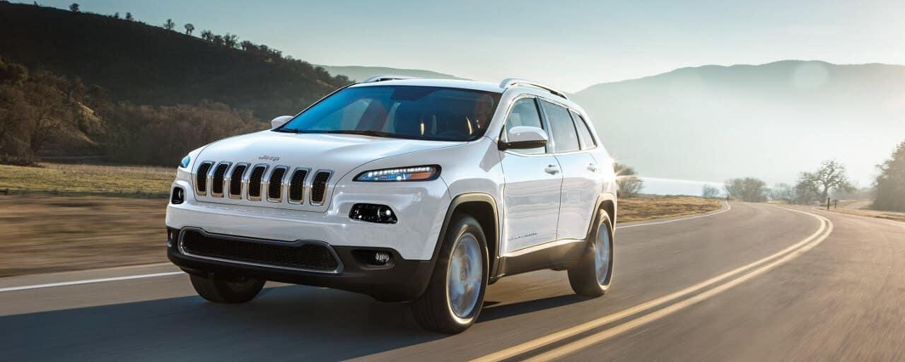 2018 Jeep Cherokee on road