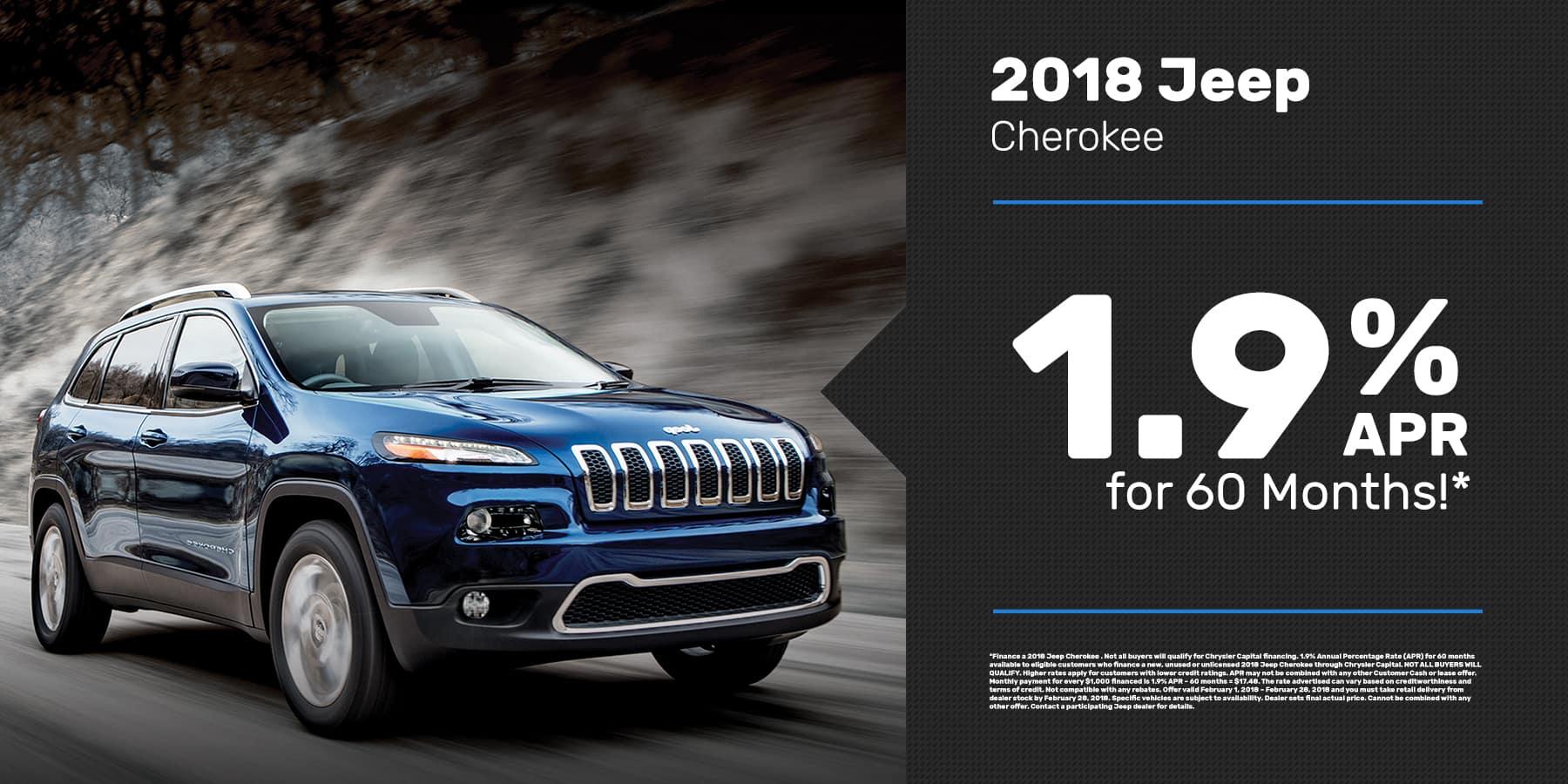 2018 Cherokee Offer