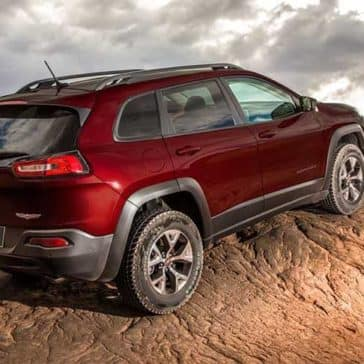 2018 Jeep Cherokee on rough terrain
