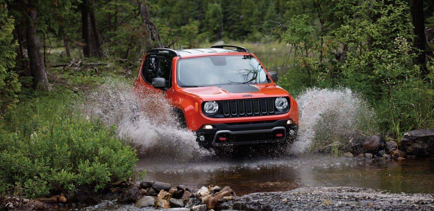 2018 Jeep Renegade off-roading