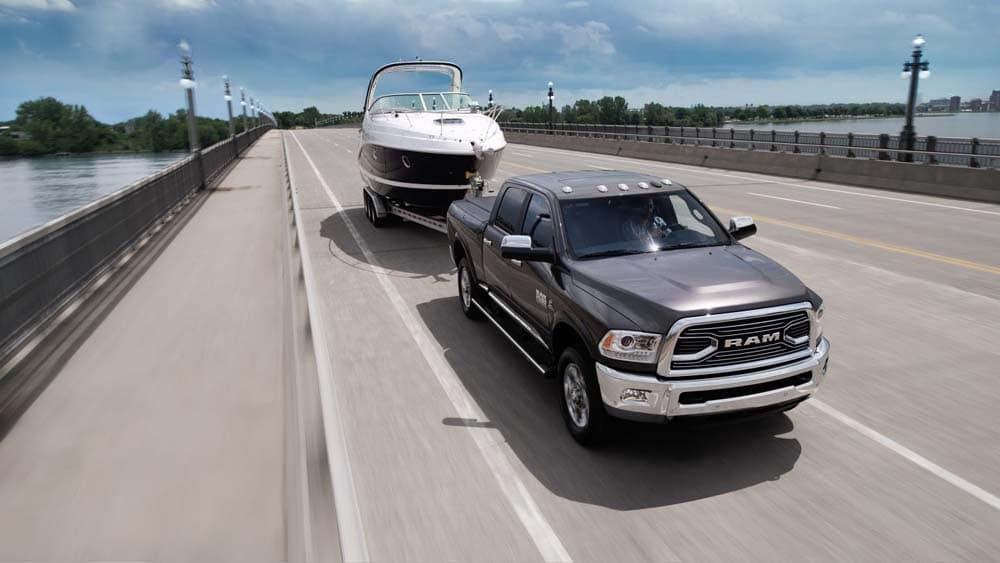 2018 Ram 2500 Limited Towing a boat