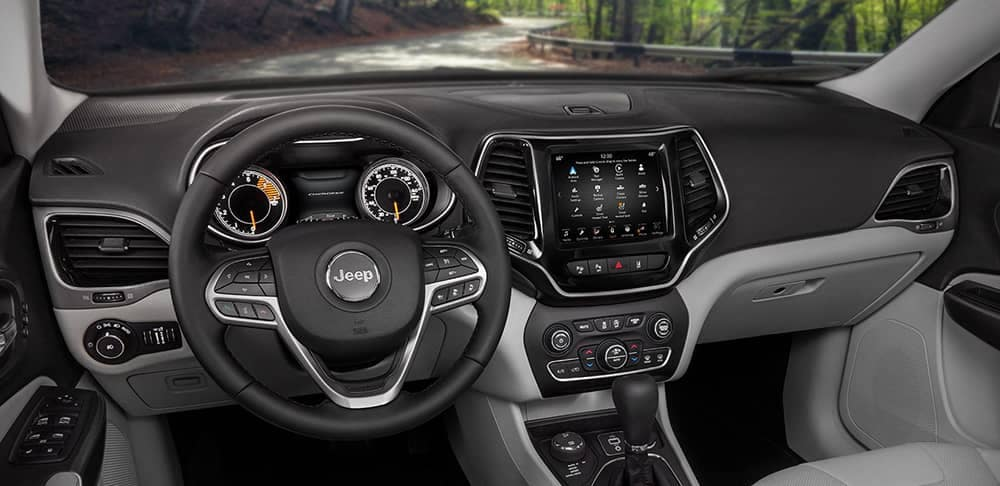 2019 Jeep Cherokee dashboard with touchscreen