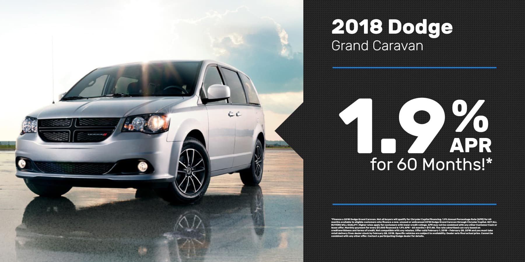 2018 Grand Caravan Offer