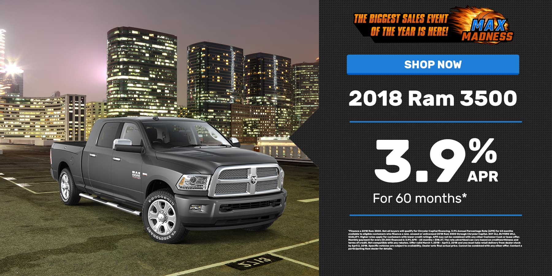 March 2018 RAM 3500 Offer Slide