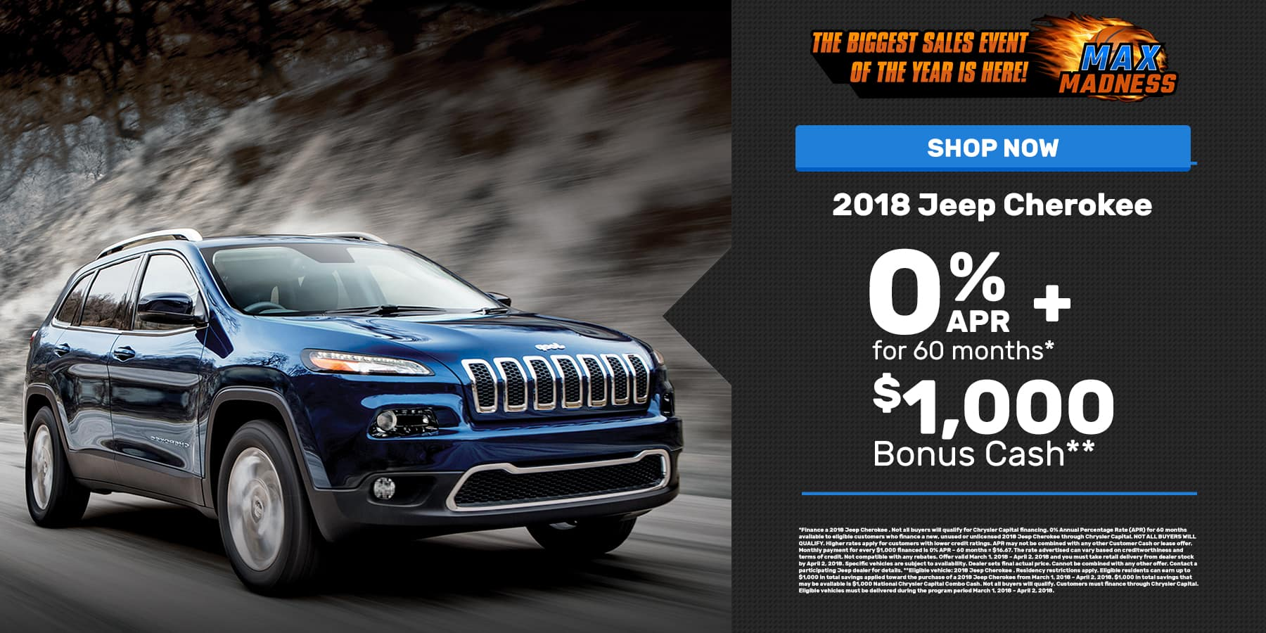 Mar. 2018 Jeep Cherokee Offer Slide
