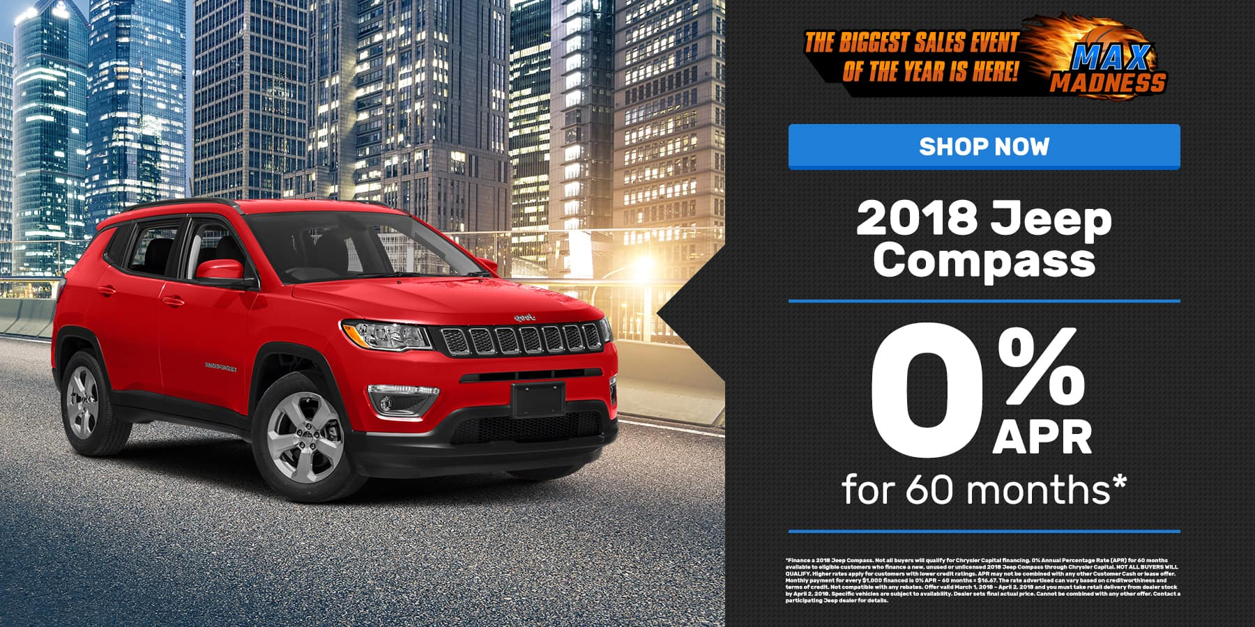 Mar. 2018 Jeep Compass Offer Slide