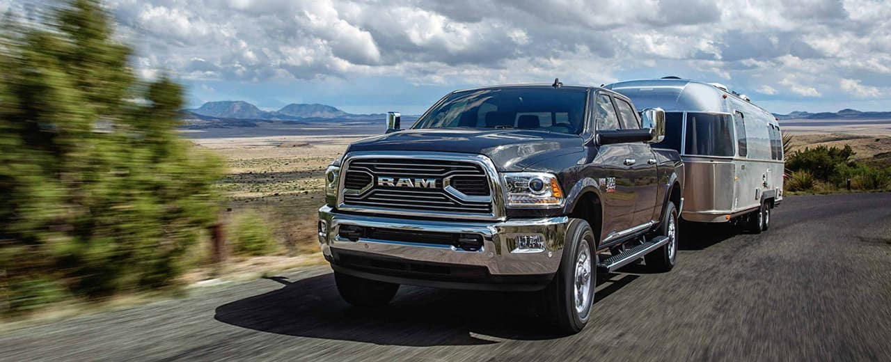 2018 Ram 2500 tows an airstream trailer