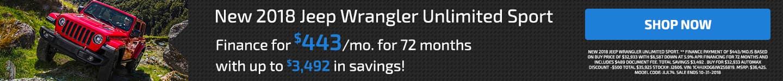 Jeep Wrangler October Offer