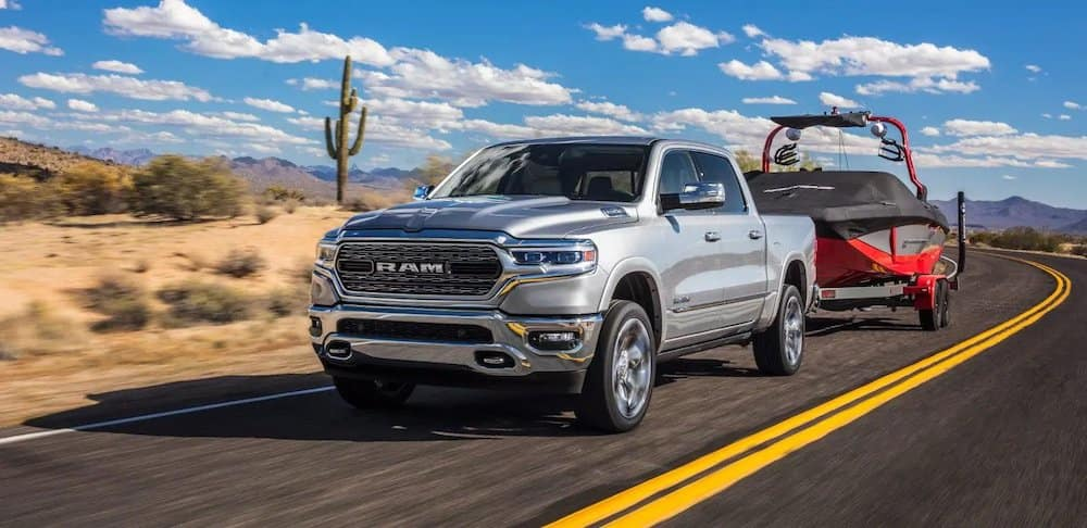 All-New 2019 Ram 1500 towing a boat