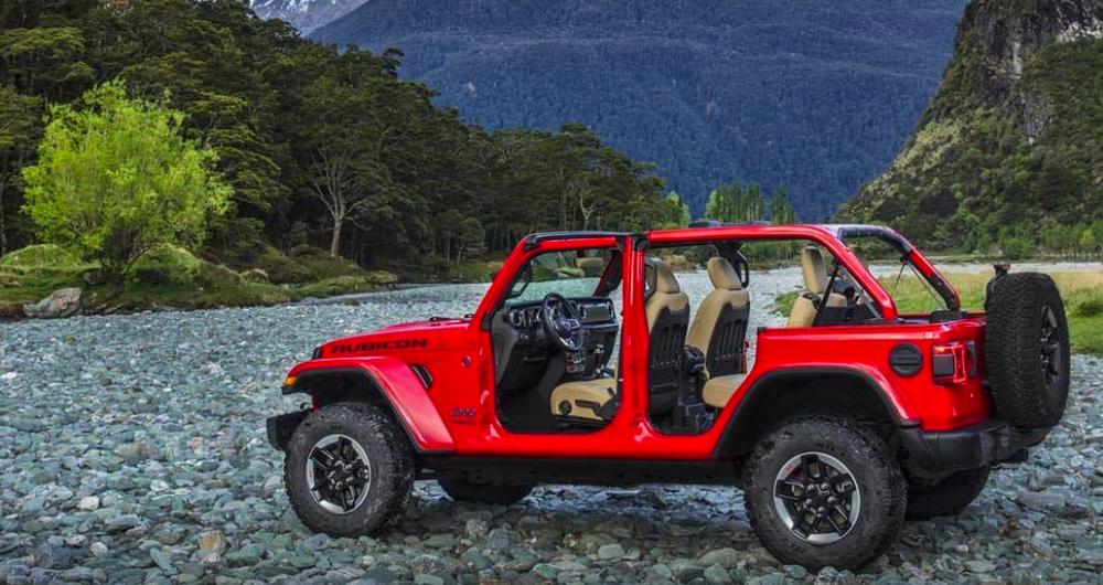 2019 Jeep Wrangler with doors off
