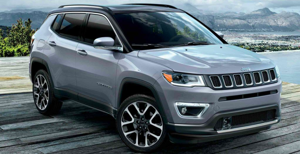 2019 Jeep Compass Parked on a Dock