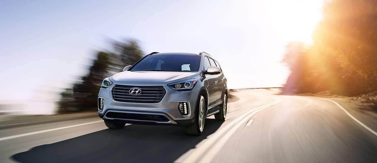 2018 Hyundai Santa Fe on road