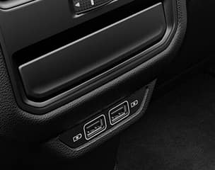 Two rear USB charging ports