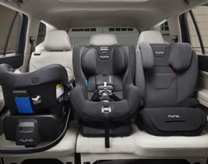 2nd row with room for three child seats