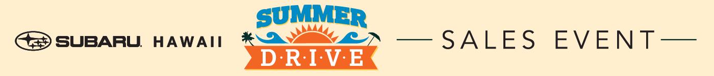 Subaru Summer Drive Sales Event