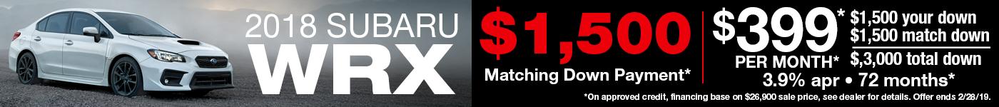 2018 WRX $1500 Matching Down