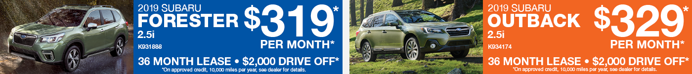 Forester & Outback Lease Offer