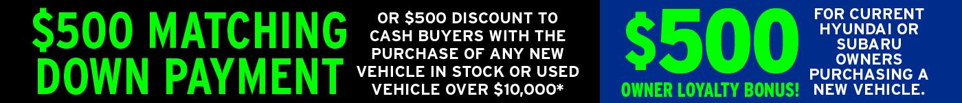 $500 Down