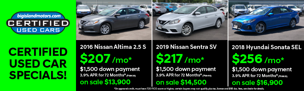 Certified Used Car Specials