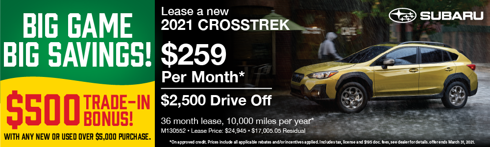2021 Crosstrek Lease $259