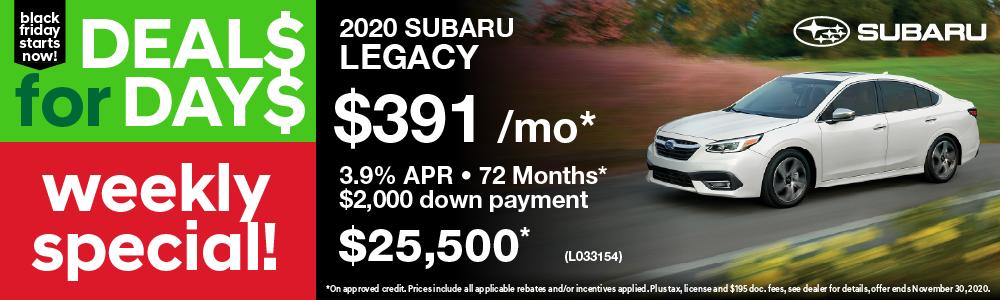Weekly Special Subaru Legacy