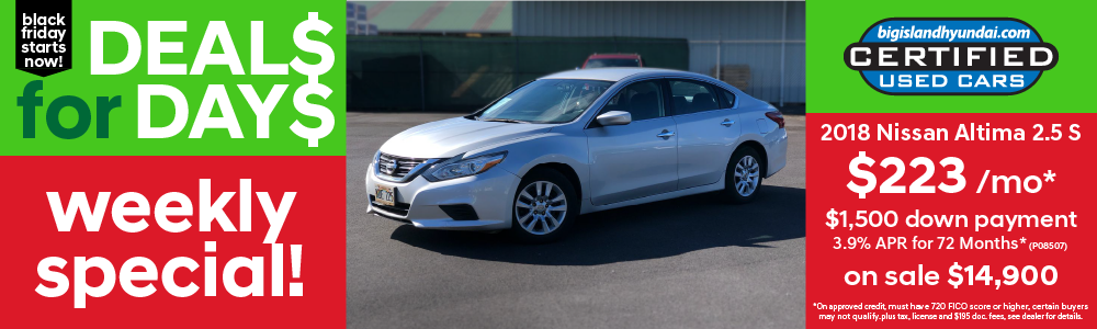 Weekly Special 2018 Nissan Altima
