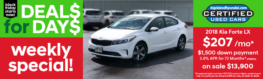 Weekly Special 2018 Kia Forte