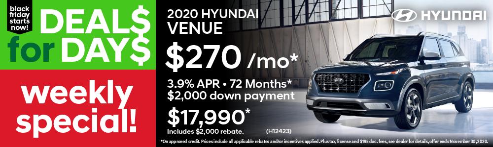 Weekly Special Hyundai Venue
