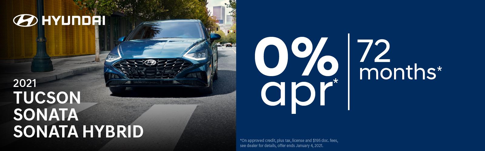 0% apr 72 months on select Hyundai