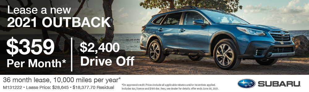 21 Outback Lease $359 per month