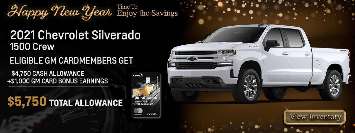 ELIGIBLE GM CARDMEMBERS GET $4,7500 CASH ALLOWANCE +$1,000 GM CARD BONUS EARNINGS $5,750 TOTAL ALLOWANCE