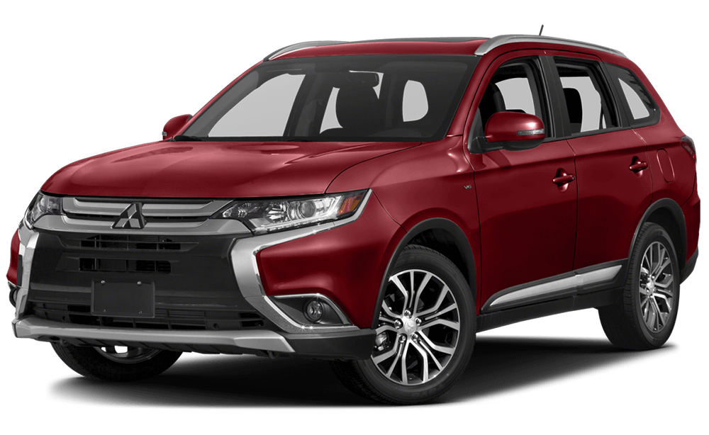 2016 Mitsubishi Outlander in red