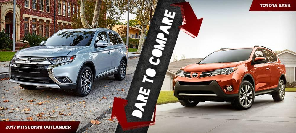 2017 Mitsubishi Outlander vs the 2017 Toyota RAV4