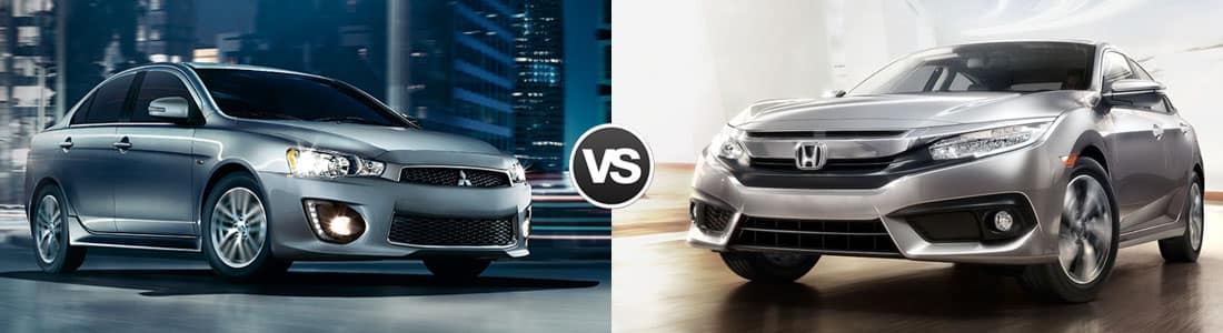 2015 Mitsubishi Lancer vs 2015 Honda Civic