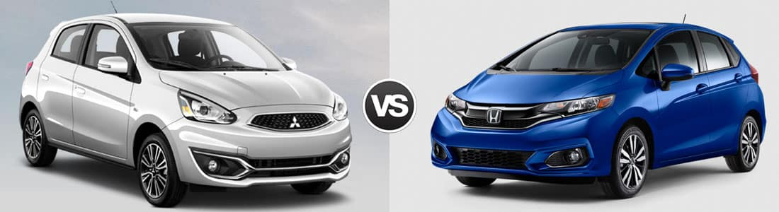 2018 Mitsubishi Mirage vs 2018 Honda Fit