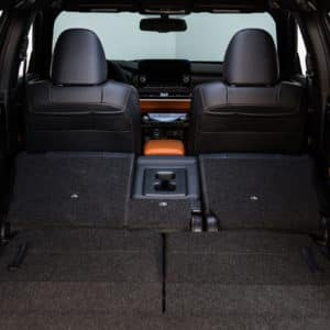 Customizable cargo space means you can fold seatting up or down as required